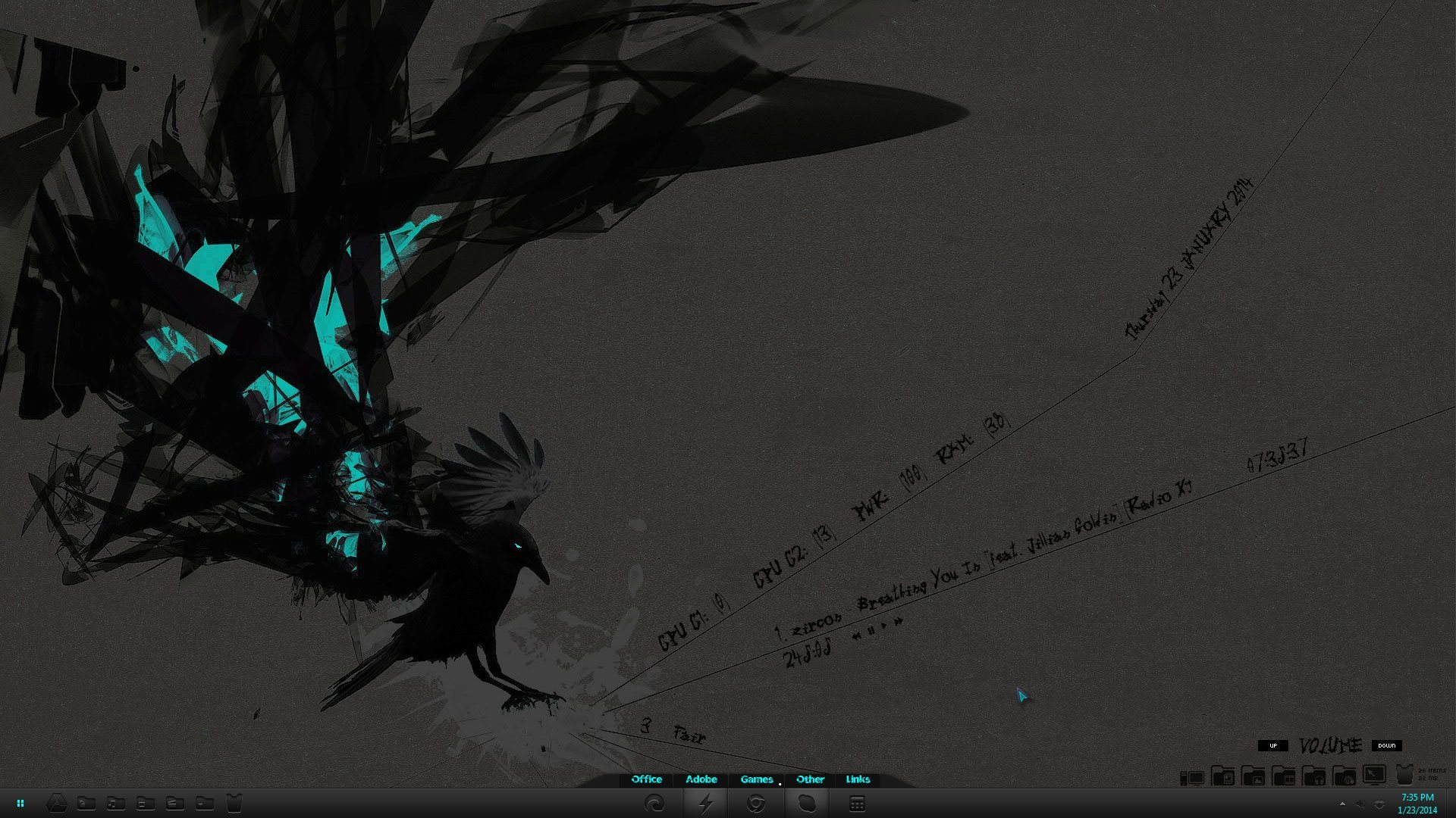 blue raven full desktop