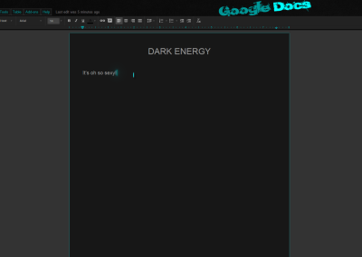 Dark Energy Google